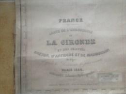 Carte Marine - Embouchure De La Gironde Et Des Perthuis - 1946 - Breton, D´Antioche Et De Maumusson - Cartes Marines