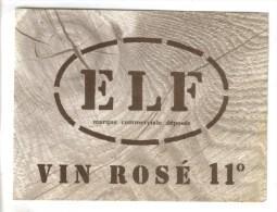 LOT 4 ETIQUETTES BOUTEILLE VIN ELF ESTOS (Pyrénées Atlantiques) - Rouge Supérieur 11°,Rosé 11°, Rigoulet 9,5°, Rosé MAY - Lots & Sammlungen