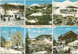 K2120 Saluti Dal Terminillo (Rieti) - Multipla - Vedute - Panorama / Viaggiata 1968 - Altre Città