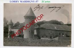 LORRY-MARDIGNY-Mardeningen-Chateau-Quartier-2xCartes Photos Allemandes-Guerre 14-18-1WK-Frankreich-France-57- - Metz Campagne