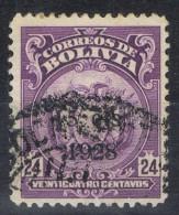 Sello BOLIVIA, Sobrecarga 1928, Num 159 º - Bolivia