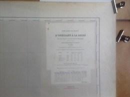 Carte Marine - D' Ouessant à La Loire - Paris 1872 - Service Hydraugraphique De La Marine - Nautical Charts