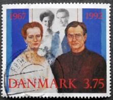 Denmark 1992   MiNr.1031 (O) Silver Wedding Queen Margarethe II And Prince Henrik ( Lot  L 2026) - Usado