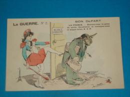 Illustrateurs ) METTEIX - La Guerre N°2 - Son Depart - Alsace - Lorraine  - EDIT - Laclau - Metteix