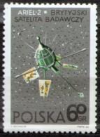 EARLY BRITISH UK SPACESHIP -  ARIEL-2  - POLAND 1966  MNH - Space