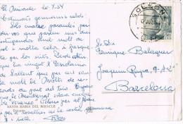 11124. Postal SOLSONA (Lerida) 1954. Dolmen Santa Maria Del Miracle - 1931-Oggi: 2. Rep. - ... Juan Carlos I