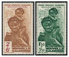 WALLIS ET FUTUNA 1942 - Yv. PA 1 Et 2 * TB Var.  Cote= 5,00 EUR - Protection De L'enfance ..Réf.W&F21593 - Airmail