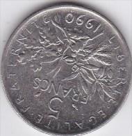 5  Francs Semeuse - Cupro-Nickel -Roty - France