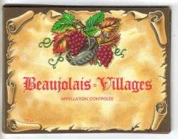 """LOT 3 ETIQUETTES BOUTEILLE VIN - Beaujolais Village, Blanc De Blanc,  Bourgogne Blanc """"Pouilly Vinzelles - Lots & Sammlungen"""