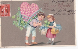 24244 Bonne Année ! Enfant Portefaix Myosotis Reflief -print Many