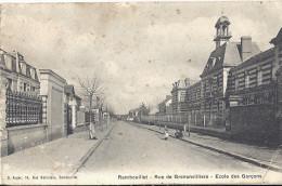 Cp 78 RAMBOUILLET Rue De Grenonvilliers Ecole Des Garcons - Rambouillet