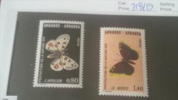 LOT 236019 TIMBRE DE ANDORRE NEUF** N�258/259