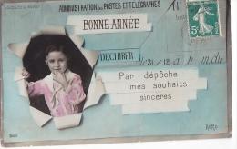 24255 Bonne Année - 560 AERO -telegrame PTT Enfant Depeche