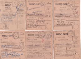 """Rare Collection De 11 MANDATS CARTES En FRANCHISE Avec Obl """" POSTE AUX ARMÉES """" D' INDRE ET LOIRE - Marcofilia (sobres)"""