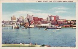 Tampa Skyline From Davis Island Tampa Florida1942