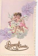 24273 Bonne Année -sans Ed -ange Decoupis Noeud -1908