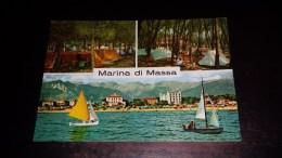C-21852 CARTOLINA MARINA DI MASSA - VARIE VEDUTE - PANORAMA SPIAGGIA HOTEL CAMPING - Massa