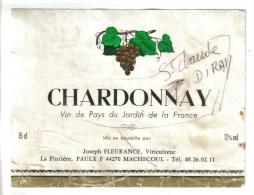 """LOT 3 ETIQUETTES BOUTEILLE VIN - Chardonnay Joseph Fleurance, Saumur Champigny """" Domaine Des 2 Bourgs,  Blanc De Blanc - Collections & Sets"""