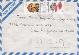 Argentina Airmail Aereo Por Avion Cover Letra Pilze Mushroom Stamps - Luftpost