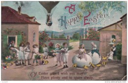 C1900 A HAPPY EASTER- BRITISH POSTCARD - Easter
