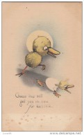 C1900 GUESS THIS WILL GET YOU IN TIME FOR EASTER- GERMAN POSTCARD - Easter