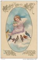 C1900 WISHING YOU EASTER JOY - BRITISH POSTCARD - Easter