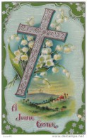 C1900 A JOYFUL EASTER - BRITISH POSTCARD - Easter