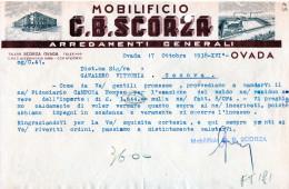OVADA-17-10-1938-DITTA MOBILIFICIO G.B.SCORZA-ARREDAMENTI GENERALI - Schweiz