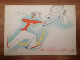 CARTOLINA  TEMATICA RADIO FORTUNA 1949 - Radio