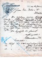 WIEN-TROHHUT-FABRIK-J.OBERW ALDER4-2-1890-TRO - Austria