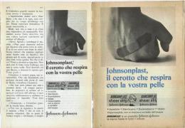 1967 -  Cerotto JOHNSONPLAST (johnson & Johnson)  -  2  P. Pubblicità Cm.13,5 X18,5 - Magazines
