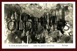 ALCANENA - SERRA DE SANTO ANTONIO - UM ASPECTO DA GRUTA - 8 - 1950 REAL PHOTO PC - Santarem