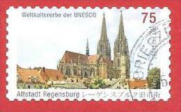 GERMANIA REPUBBLICA - GERMANY - USATO - 2011 - UNESCO - Cathedral Saint Peter, Regensburg - 75 Cent - Michel DE 2845 - Usati