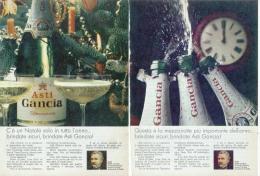 1967 - Spumante ASTI GANCIA  -  5 Pagine Pubblicità  Cm. 13 X 18 - Champagne & Spumanti