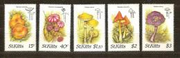 Saint Kitts St-Christophe 1987 Yvert n� 641-645 *** MNH Cote 90 FF Flore champignons paddestoelen