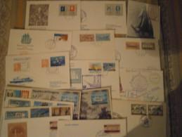 Schiffspost Belege Sammlung Mit Ca. 75 Belegen Aus Aller Welt U.a. Grönland, USA, BRD.. - Bateaux