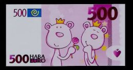 School Money, 500 Euro,  Edukativ-Spielgeld, Money Scolaire, Training, Typ B, 128 X 68 Mm,  RRR, UNC - Autres