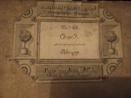 61 RARE CARTE TOILEE 1850 ALENCON N°63 ORNE ANDRIVEAU GOUJON - Cartes Géographiques