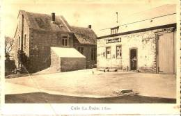 Cielle (la Roche) L´école Communale Maison Soreil Alimentation Générale Pub.piedboeuf Fortement Pliée!!!!! - La-Roche-en-Ardenne