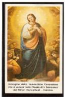 ST221  Santino - Holy Card - Image Pieuse  -  IMMACOLATA CONCEZIONE - Chiesa Di S. Francesco   Catania - Santini