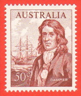 AUS SC #413 MH  1966 William Dampier, CV $7.50 (if NH) - 1966-79 Elizabeth II