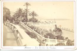 MONACO - MONTE CARLO  Photo Montée Sur Carton 10,8 X 16,5 Cm Les Jardins Du Casino - Non Classificati