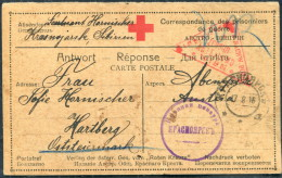 1916 Russia P.O.W. Prisonniers De Guerre  Kriegsgefangen Censor Postcard Wien Austria Hungary - Briefe U. Dokumente