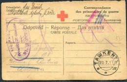 1917 Russia P.O.W. Prisonniers De Guerre  Kriegsgefangen Censor Postcard Wien Austria Hungary Tashkent - Covers & Documents