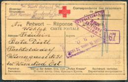 1917 Russia P.O.W. Prisonniers De Guerre  Kriegsgefangen Censor Postcard Wien Austria Hungary - Covers & Documents