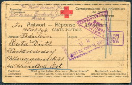 1917 Russia P.O.W. Prisonniers De Guerre  Kriegsgefangen Censor Postcard Wien Austria Hungary
