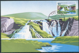 Iceland Waterfalls Europa Maxicard - Cartoline Maximum