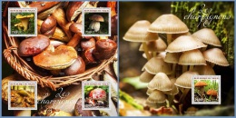 nig14302ab Niger 2014 Mushrooms 2 s/s