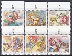 AUSTRIA  778-83   **  BAROQUE  FRESCOES - 1961-70 Unused Stamps