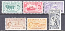 FALKLAND  ISLANDS 122-7   * - Falkland Islands
